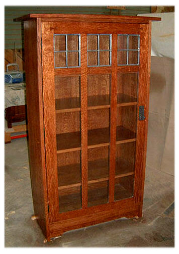 shelves amish plans style mission wood bookcases solid bookcase
