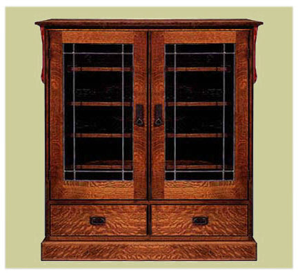 Arts crafts mission style bookcases craftsman bookcase for Craftsman style bookcase plans