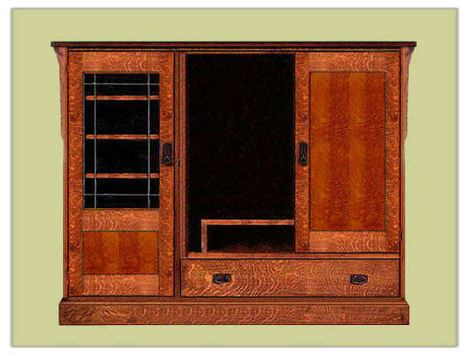 Arts Amp Crafts Mission Style Entertainment Center