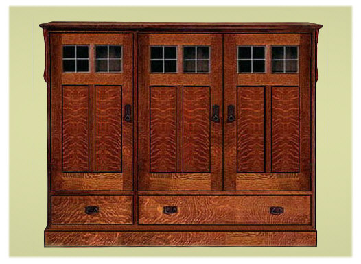 Arts crafts mission style entertainment center for Mission style entertainment center plans