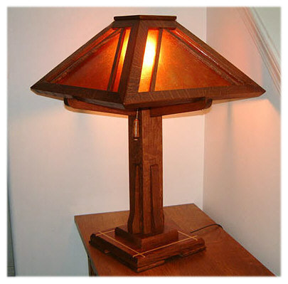 Arts crafts mission style lighting craftsman lamps for Arts and crafts light