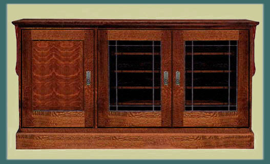 Arts Crafts Mission Style Entertainment Center
