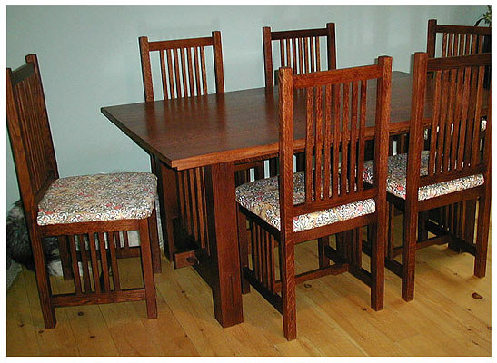 Superb Mission Style Dining Room Table Arts Amp Crafts Mission Style Dining Room