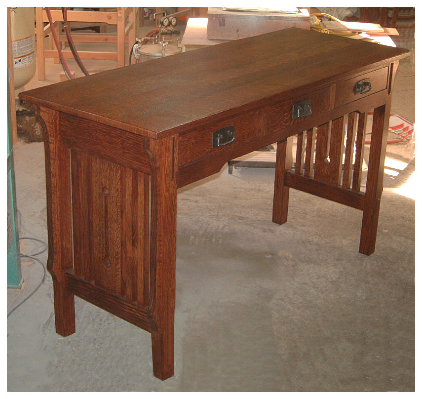 Arts crafts mission style tables limbert table end for Arts and crafts style table
